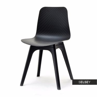 Krzesło Caro DSX czarne z tworzywa