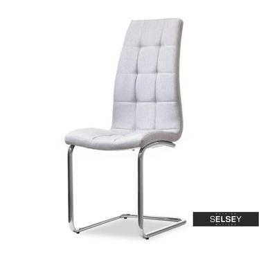Krzesło Bari szare pikowane na płozach