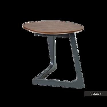 Stolik kawowy Kappeln 45x45 cm z fornirem orzechowym