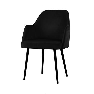 Krzesło tapicerowane Kebbi czarne