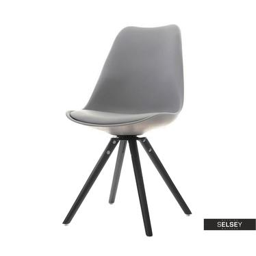 Krzesło Luis rot szaro-czarne obrotowe z oparciem