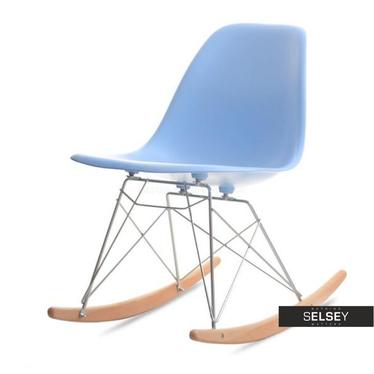 Krzesło bujane MPC roc niebieskie z bukowymi płozami