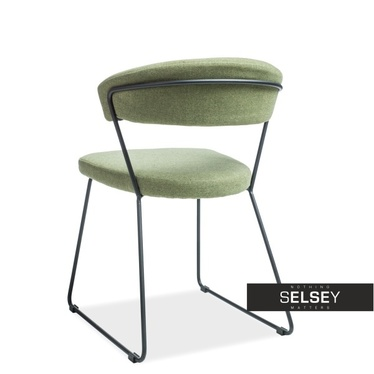 Krzesło Lorano zielone