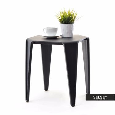 Stolik kawowy Bay 40x40 cm czarny z tworzywa