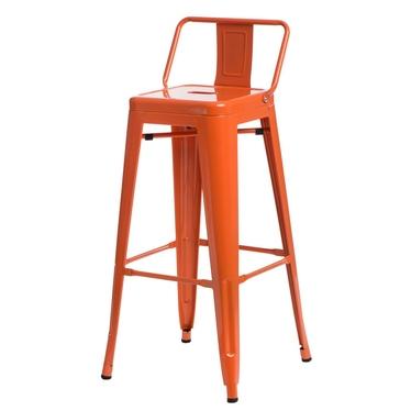 Hoker Paris 75 cm z niskim oparciem pomarańczowy