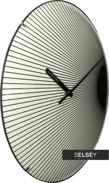 Zegar szklany Rays Dome średnica 35cm fluorescencyjny