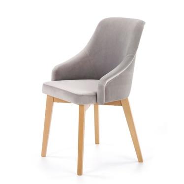Krzesło Vilor szare - dąb miodowy
