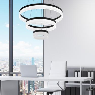 Lampa wisząca Round czarna średnica 60 cm x3