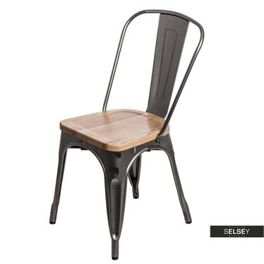 Krzesło Paris Wood jesion - metaliczne