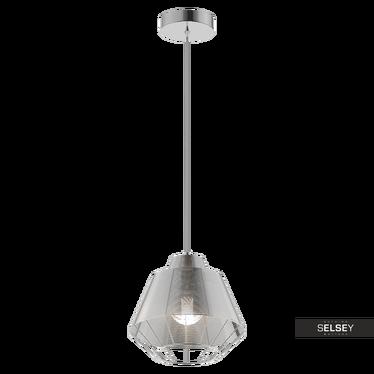 Lampa wisząca Ferguson 25 cm srebrna