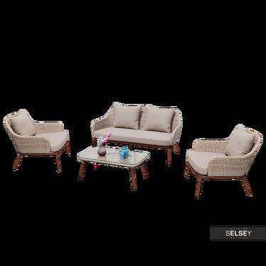 Zestaw ogrodowy Milord dwa fotele, sofa i stolik