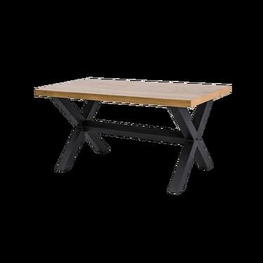Stół Holeby 180x90 cm z litego drewna dębowego z poziomym wzmocnieniem podstawy