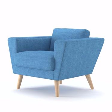 Fotel Atla 12 niebieski