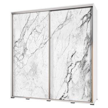 Szafa Wenecja 205 cm Biały marmur