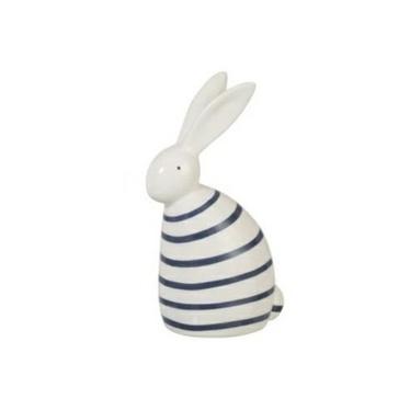 Dekoracja Rabbit Strip ozdobna figurka w ciemnoniebieskie paski