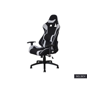 Fotel gamingowy Kolby czarno-szary