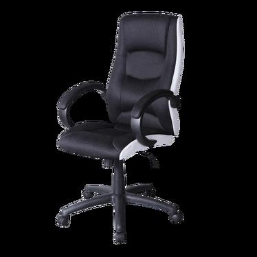 Fotel biurowy Gordo czarno - biały