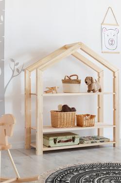 Regał Jafari dziecięcy domek z drewna wysokość 126 cm