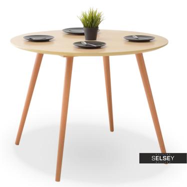 Stół Tilia dąb z okrągłym blatem