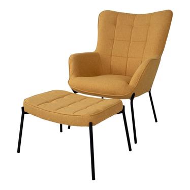 Fotel Glaber żółty