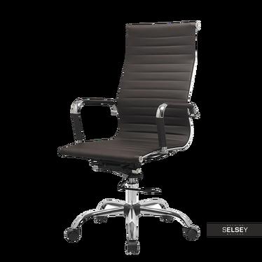 Fotel biurowy Olimp brązowy