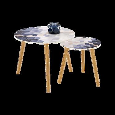 Zestaw stolików Guerilla o średnicy 40 cm i 60 cm