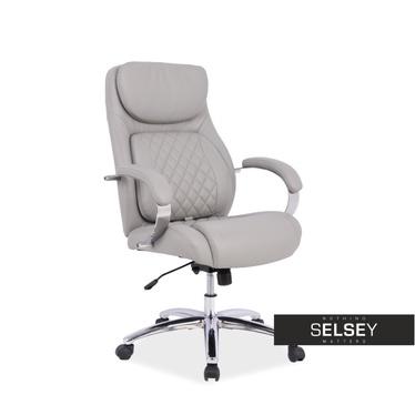 Fotel biurowy Carner szary