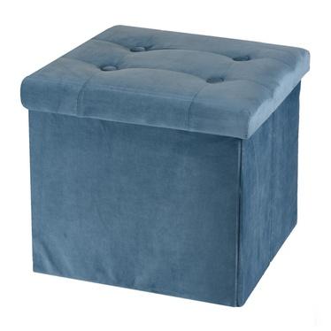 Pufa Vels niebieska