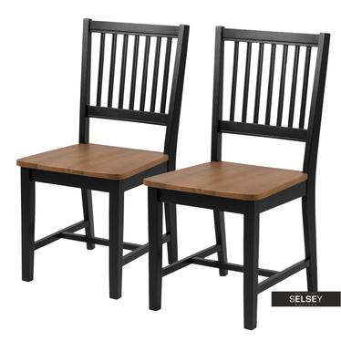 Zestaw dwóch krzeseł Barimo czarne