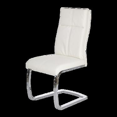 Krzesło Emma białe - ekoskórzane tapicerowanie