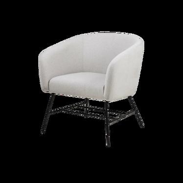 Fotel Isoleta jasnoszary na czarnych nogach