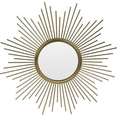 Lustro Rise złote o średnicy 31 cm