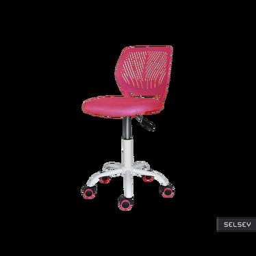 Fotel biurowy Elling różowy