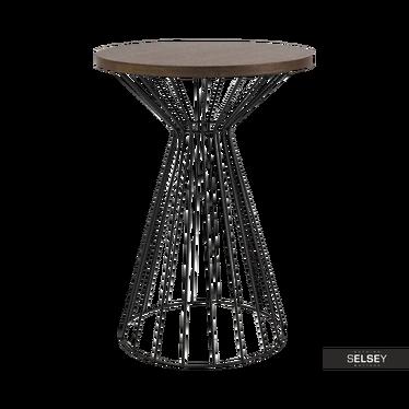 Stolik kawowy Heike średnica 40 cm czarny