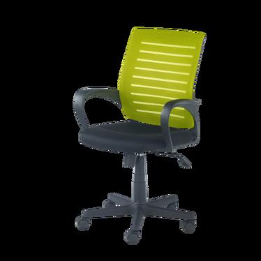 Fotel biurowy Team z zielonym oparciem