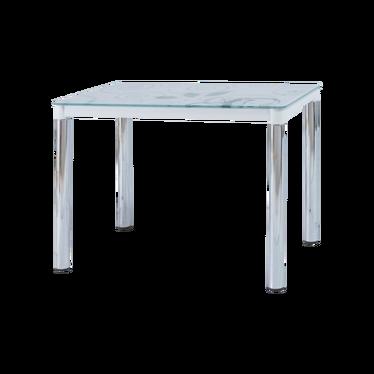 Stół Skast 100x60 cm biały na chromowanej podstawie