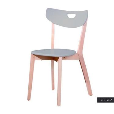 Krzesło Aston szare z wyprofilowanym oparciem