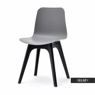 Krzesło Caro DSX szaro-czarne z tworzywa