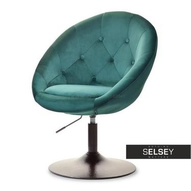 Fotel Lounge 3 zielono - brązowy obrotowy