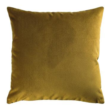 Poduszka dekoracyjna Myrrhis w tkaninie PET FRIENDLY 45x45 cm musztardowa