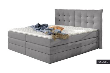 Łóżko kontynentalne Serena 160x200 cm tkanina Bonn