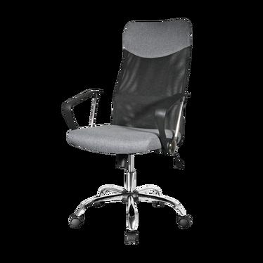 Fotel biurowy Rens szara tkanina