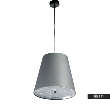 Lampa wisząca Rosetti średnica 33 cm szara