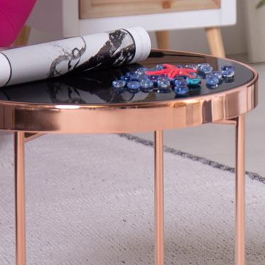 Stolik kawowy Copper średnica 43 cm