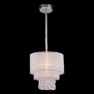 Lampa wisząca Bennett biała średnica 30 cm