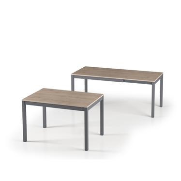 Włoski stół rozkładany Alberto 120(180)x80 dąb pembroke na antracytowych nogach