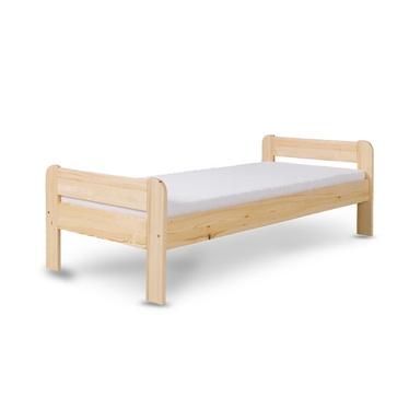 Łóżko Aleno z sosnowego drewna ze stelażem