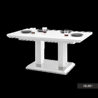 Stół rozkładany Bresso 160(200)x90 cm biały