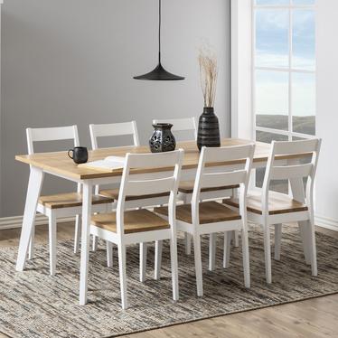 Zestaw dwóch krzeseł Supetar białe