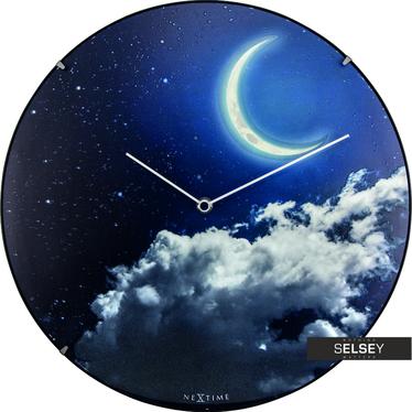 Zegar szklany New Moon Dome średnica 35cm fluorescencyjny